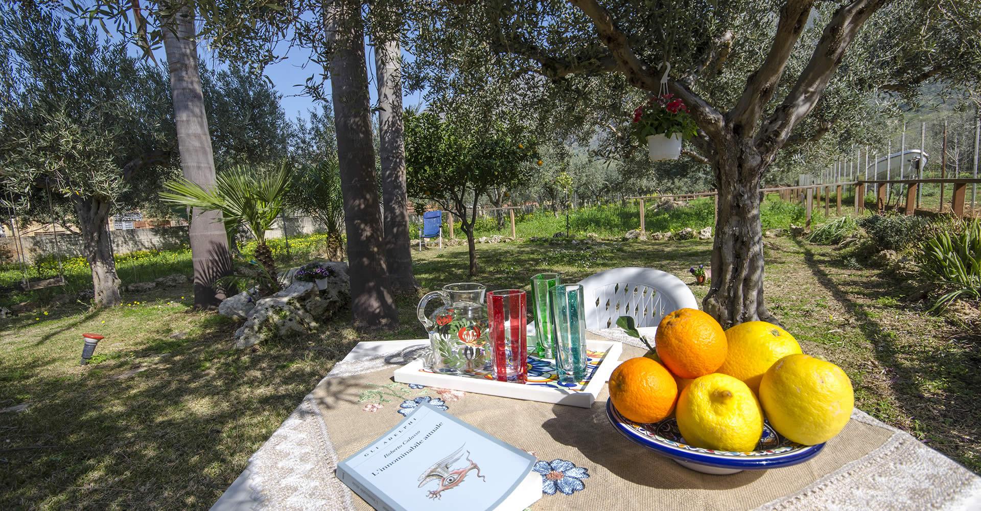 Area verde del B & B Cascina degli Ulivi - Castelluzzo  - San Vito Lo Capo